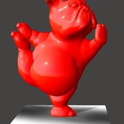 Sin títuloff3.jpg Télécharger fichier STL BULLDOG ANGLAIS POSE DE YOGA 2 • Plan imprimable en 3D, Ivankahl3D