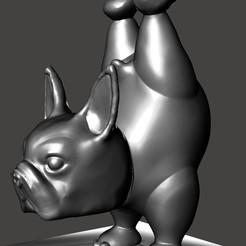 2222.jpg Télécharger fichier STL BOSTON TERRIER YOGA POSE 1 • Plan imprimable en 3D, Ivankahl3D