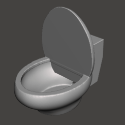 1.png Download OBJ file CUTE TOILET PLANTER / CONTAINER • Template to 3D print, Ivankahl3D