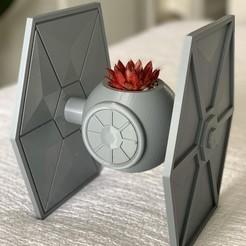 Download 3D printer designs TIE Fighter Planter, Ivankahl3D