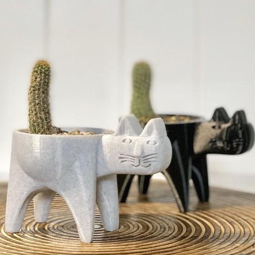 Descargar diseños 3D Cactus Cat Planter, Ivankahl3D