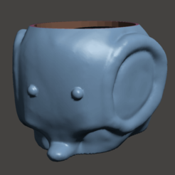 ELEPHANT PHOTO.png Télécharger fichier OBJ PLANTEUR D'ÉLÉPHANTS MINIMALISTE • Design pour impression 3D, Ivankahl3D