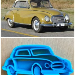 Télécharger fichier impression 3D AUTO UNION DKW CAR COOKIE CUTTER, Ivankahl3D