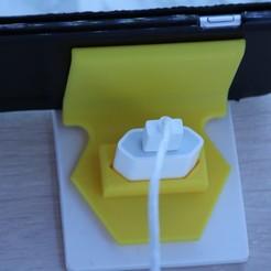 IMG_0048.JPG Télécharger fichier STL Support téléphone pour rechargement • Plan imprimable en 3D, leodomi