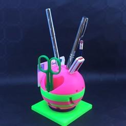 Imprimir en 3D Porta lápiz USB esférico, leodomi
