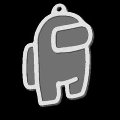 among us.png Télécharger fichier STL Porte-clés parmi nous • Modèle à imprimer en 3D, CPM