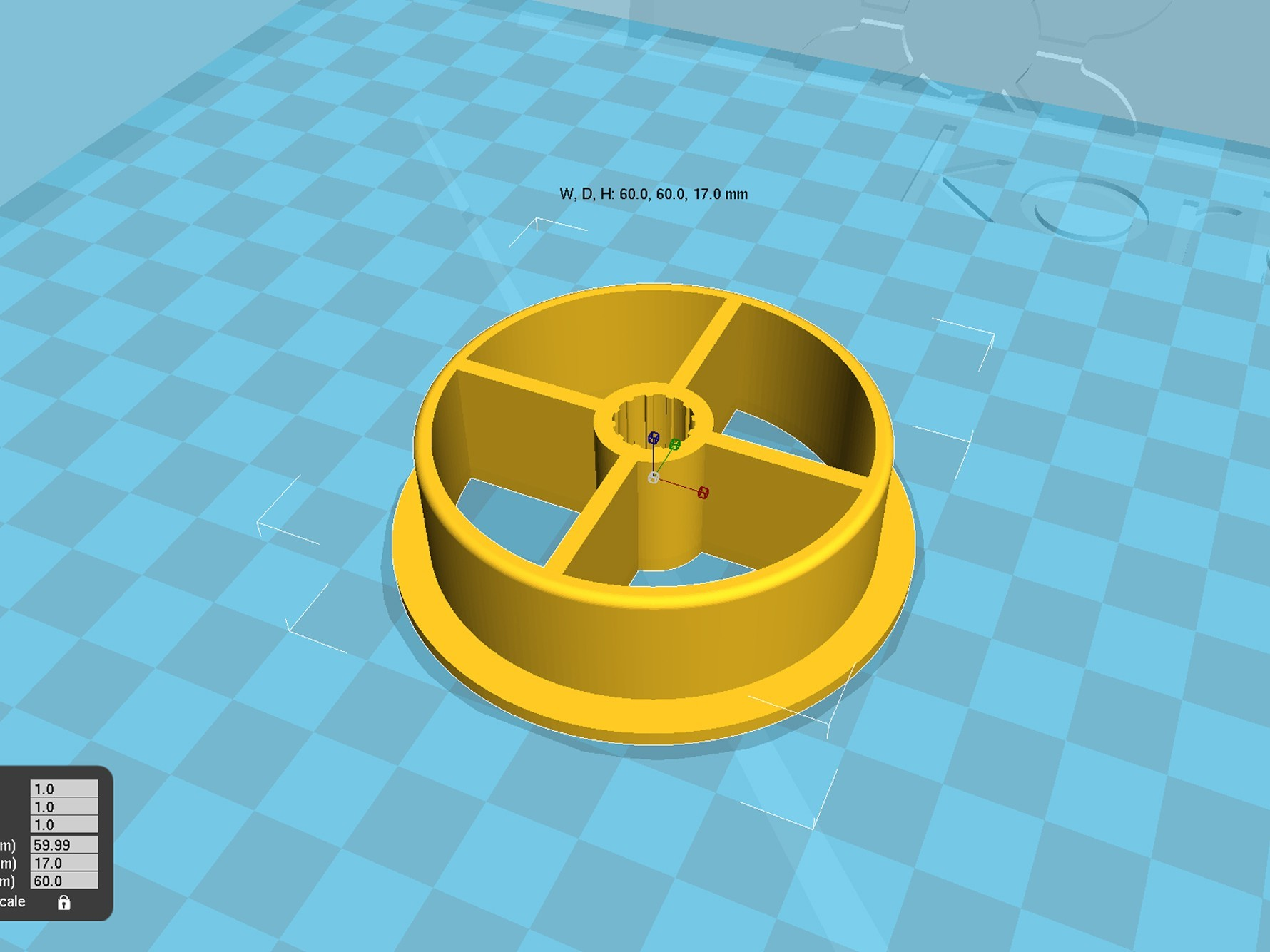 spool_adapter_53_in9.jpg Download free STL file 3d printer filament spool_adapter_53_in9 • 3D printing model, 3D_parts