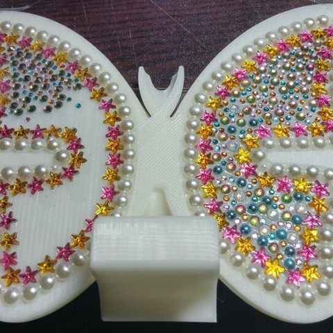 KakaoTalk_20161224_202343460.jpg Download free STL file butterfly smart phone stand / butterfly name card • 3D printer template, 3D_parts
