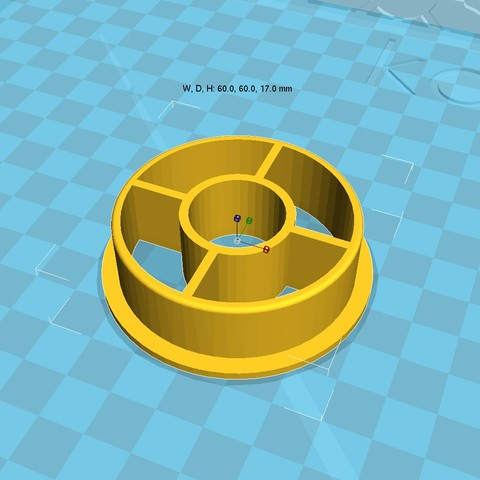 Free 3D printer designs 3d printer filament spool_adapter_53_in20, 3D_parts