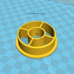 Download free 3D printing designs 3d printer filament spool_adapter_53_in20, 3D_parts