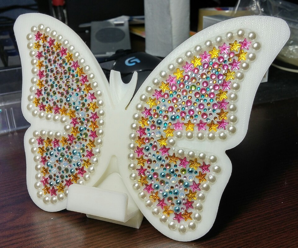 KakaoTalk_20161224_202341000.jpg Download free STL file butterfly smart phone stand / butterfly name card • 3D printer template, 3D_parts