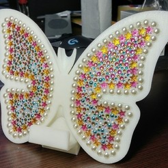 Free 3d printer designs butterfly smart phone stand / butterfly name card, 3D_parts