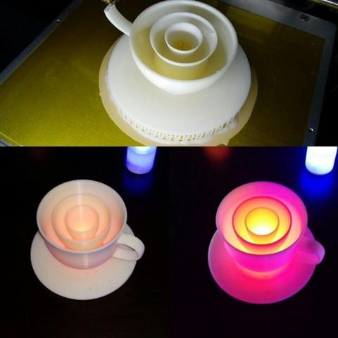KakaoTalk_20170316_223135397.jpg Download STL file coffee_set_LED_candle • 3D printer model, 3D_parts