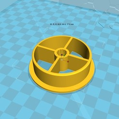 Archivos 3D gratis 3d impresora filamento spool_adapter_53_in8_new, 3D_parts