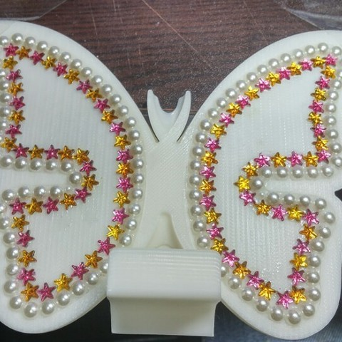 KakaoTalk_20161224_202344009.jpg Download free STL file butterfly smart phone stand / butterfly name card • 3D printer template, 3D_parts
