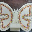 Free STL butterfly smart phone stand / butterfly name card, 3D_parts