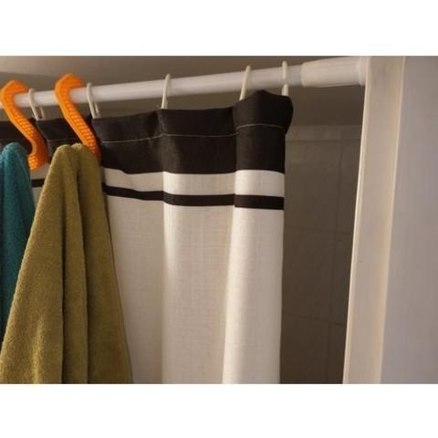 milanorage simple towel hanger -shower curtain rod04.jpg Download free STL file Simple Towel Hanger (using shower curtain rod)  • 3D print model, Milanorage