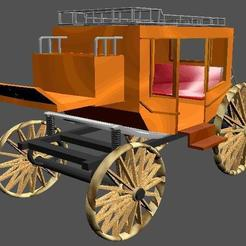 Carreta Diligencia 1.jpg Download 3DS file Stagecoach Wagon • 3D print template, misobjetos3dmorales