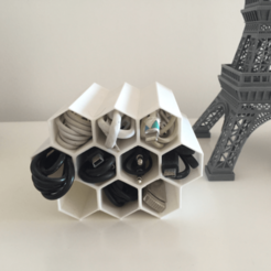 Capture d'écran 2018-05-18 à 11.59.01.png Download free STL file Cable management Hive • Model to 3D print, Filar3D