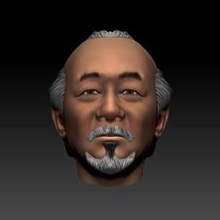 mh01.jpg Télécharger fichier OBJ M. Miyagi -Pat Morita -Printable • Design à imprimer en 3D, santysem