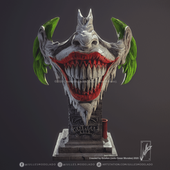 Joker_face_Prev01_IG.png Download STL file Joker Face V01 • 3D printer model, jullessoulm