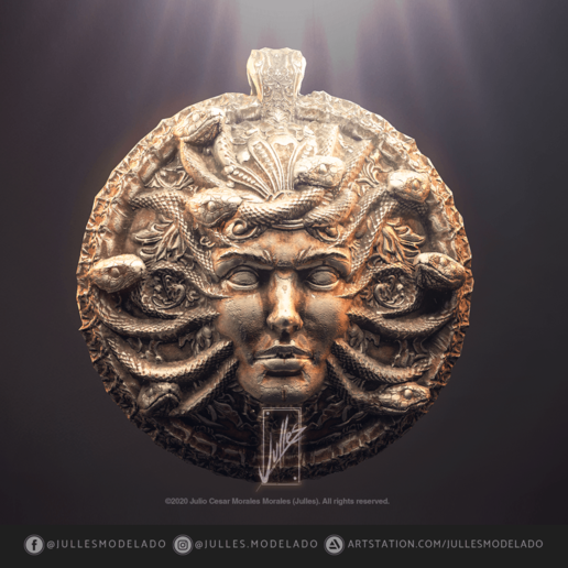 Pendant_Head_of_Medusa_IG01.png Download free STL file Pendant_Head_of_Medusa. • 3D print object, jullessoulm