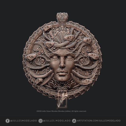 Pendant_Head_of_Medusa_IG02.png Download free STL file Pendant_Head_of_Medusa. • 3D print object, jullessoulm