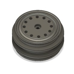 Download free 3D printer model 1/16th Scale HD Truck Wheel to suit WPL B1, B24, B16 Trucks., Pitts