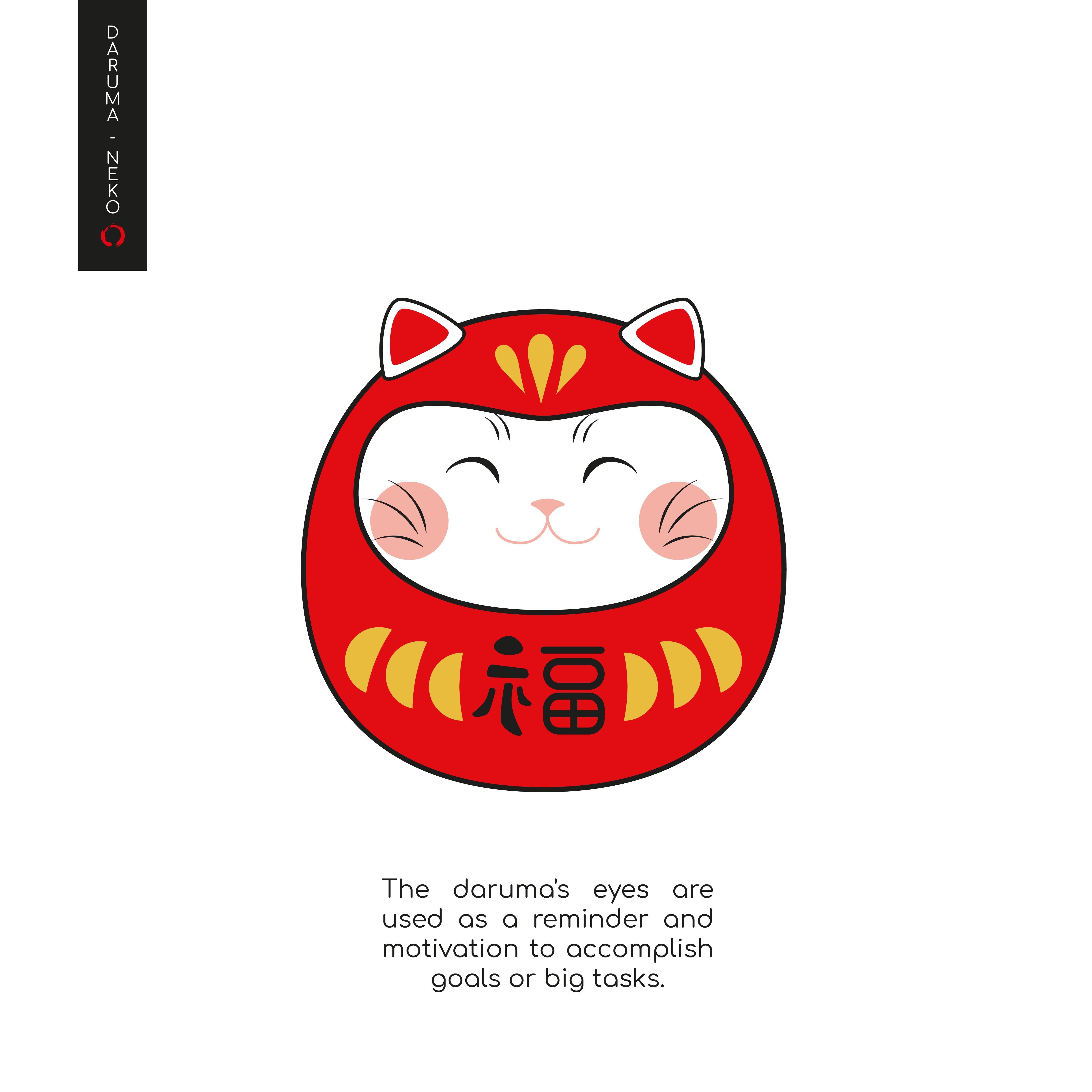 Daruma_2-07-06.jpg Télécharger fichier STL gratuit DARUMA-NEKO • Design pour impression 3D, imaginestudio