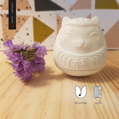 Daruma_2-07-02.jpg Télécharger fichier STL gratuit DARUMA-NEKO • Design pour impression 3D, imaginestudio