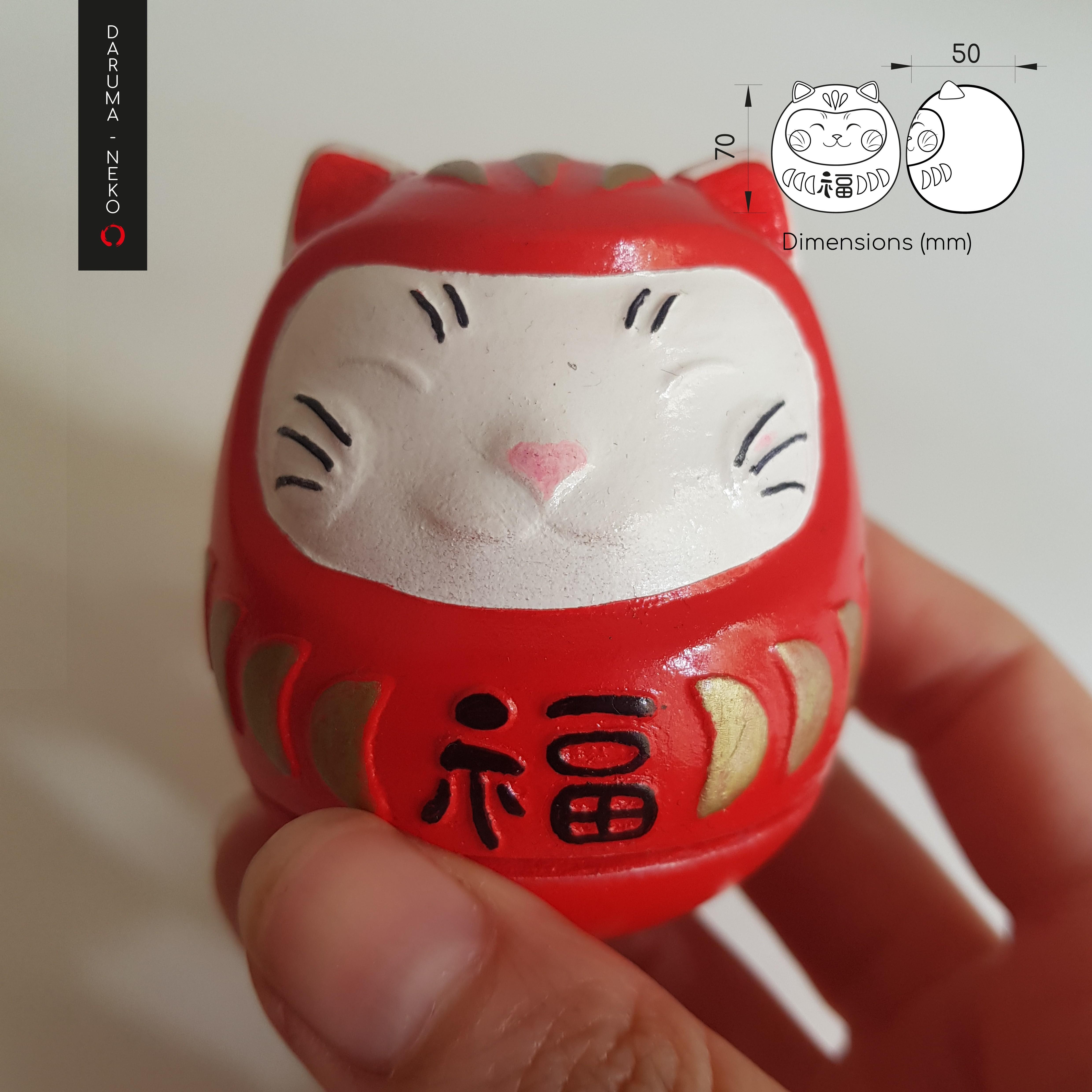 Daruma_2-07-04.jpg Télécharger fichier STL gratuit DARUMA-NEKO • Design pour impression 3D, imaginestudio