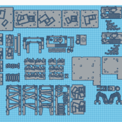 total.png Download STL file ork 40k complete decor pack • Model to 3D print, laforgeavapeur