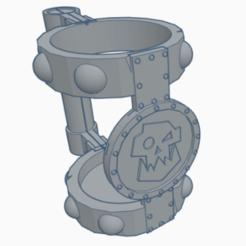 chope ork 2.png Télécharger fichier STL chope ork porte canette • Plan pour imprimante 3D, laforgeavapeur