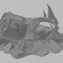 1.png Télécharger fichier STL gratuit décor tète stompa ork • Objet pour impression 3D, laforgeavapeur