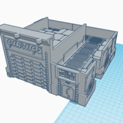 garage 1.png Download STL file Futuristic garage • 3D printer model, laforgeavapeur