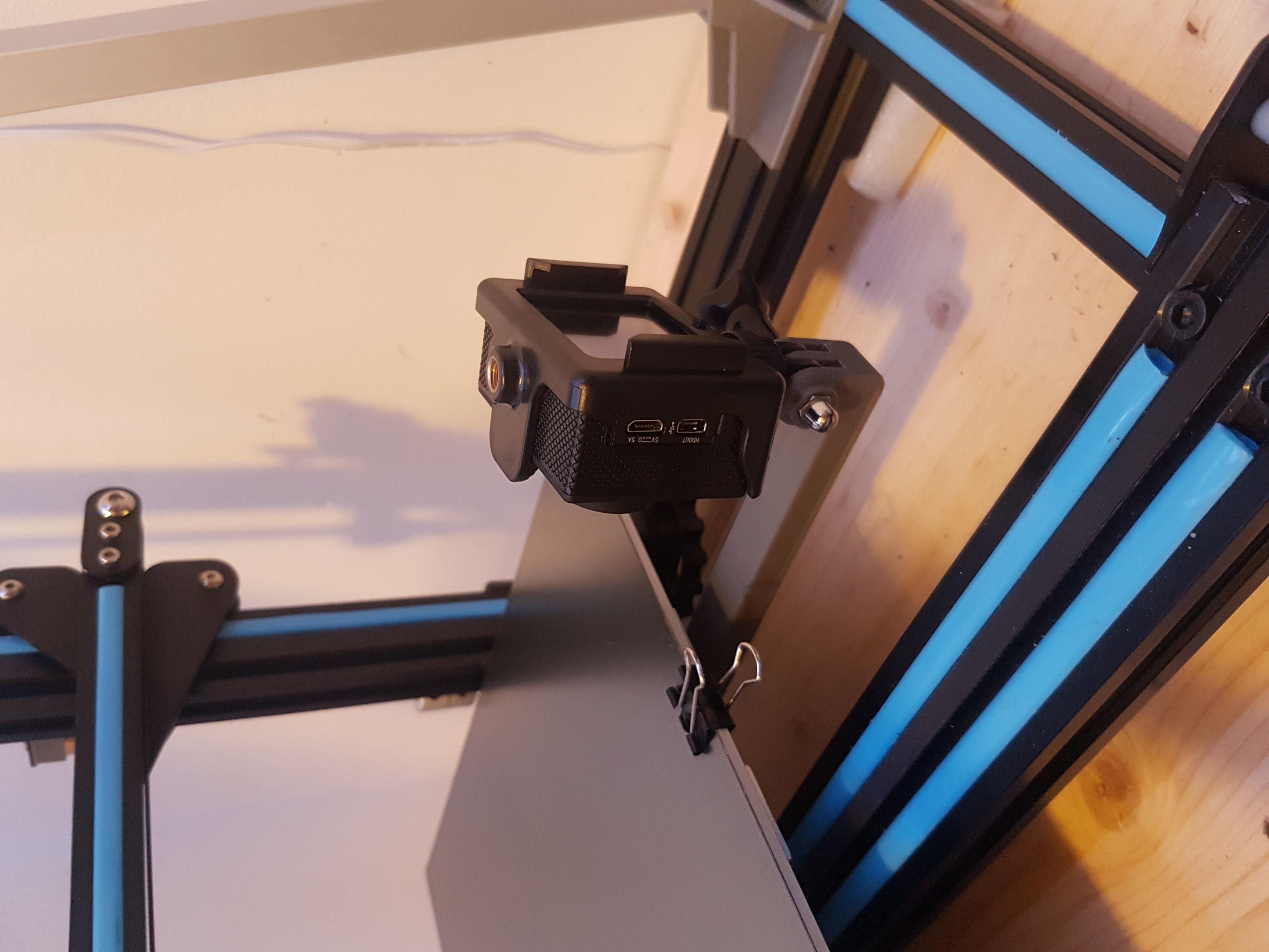 20190613_171551.jpg Download free STL file cr10 and i3 mega bed frame action cam mount - still bed timelapse • 3D print object, samster_3d