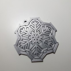 3D printer files Spinning snowflake tree ornament, samster_3d
