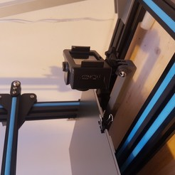 Download free STL cr10 and i3 mega bed frame action cam mount - still bed timelapse, samster_3d