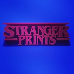 Download free 3D printer designs Stranger Prints - (Stranger Things) - sign, samster_3d