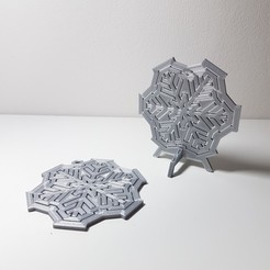 STL files Spinning snowflake - table top, samster_3d