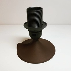 IMG_20181117_005725_844.jpg Download STL file Lamp base for stand alone e14 socket lamp (just base) • 3D printable design, samster_3d