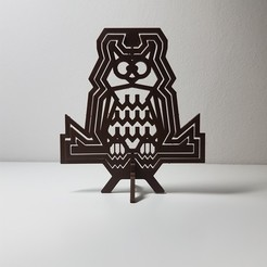 3D printer files Dizzy owl - spinning owl table top decoration, samster_3d
