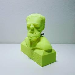 Free STL Frank (Frankenstein) Bust, samster_3d