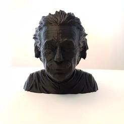 Modelos 3D para imprimir gratis Albert Einstein busto, samster_3d