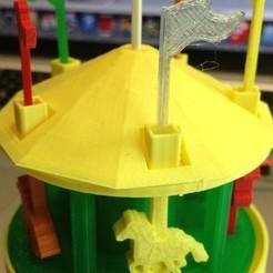 Free Carousel 3D printer file, gzumwalt