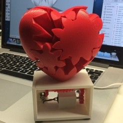 Download free 3D printing designs Geared Heart, Motorized Edition, gzumwalt