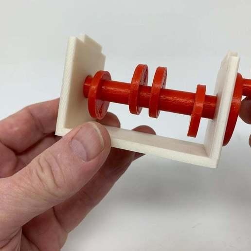 """Image0002g.JPG Télécharger fichier STL gratuit """"Lora et moi"""", un simple automate imprimé en 3D. • Plan à imprimer en 3D, gzumwalt"""