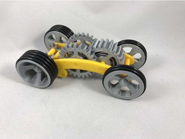 066a218c263ba55f35337b4bf392a920_preview_featured.jpg Télécharger fichier STL gratuit Tabletop Tri-Mode Spring Motor Rolling Chassis • Design pour imprimante 3D, gzumwalt