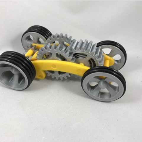 Download free STL file Tabletop Tri-Mode Spring Motor Rolling Chassis • 3D print design, gzumwalt