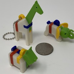 "Image0000a.JPG Download free STL file A Trio of ""Keychain Puzzles"". • 3D printer template, gzumwalt"